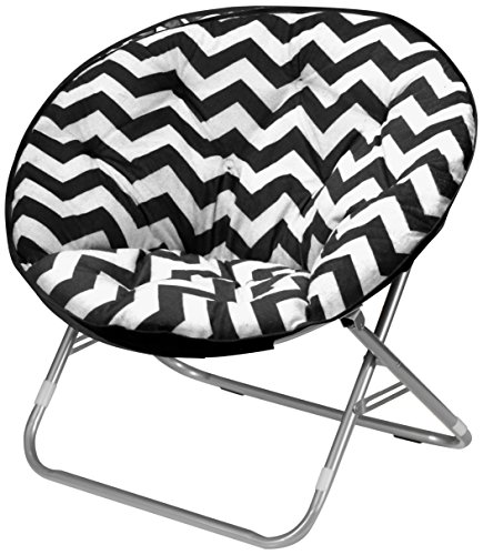 Urban Shop Chevron Saucer Chair, Black