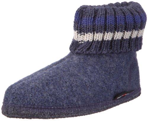Haflinger Paul 631051, Pantofole a collo alto Unisex - bambino, Blu (Blau (jeans 72)), 40
