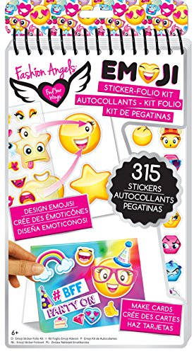 Fashion Angels Enterprises Emoji Sticker Compact Portfolio