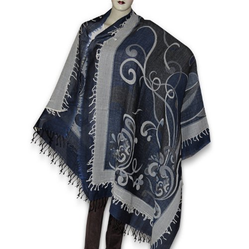 Ladies Wool Shawl Antique Design Fashion Accessory