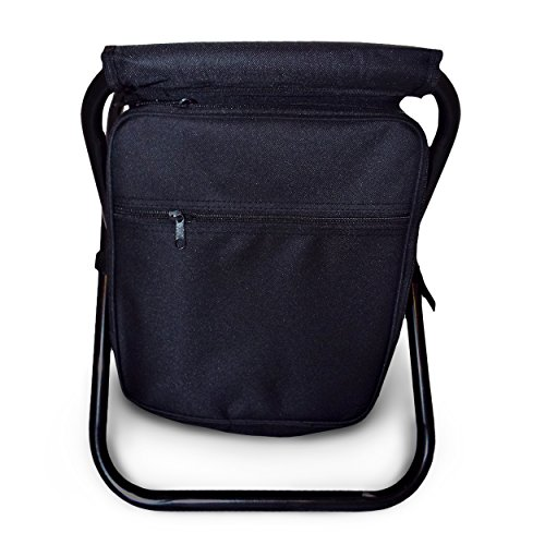3 in 1 Backpack Cooler Chair - Travel Backpack - Soft Sided Cooler - Folding Stool - Insulated Cooler Area - Portable Picnic Back Pack for Events, Beach, Hiking, Fishing, Camping by Perfect Life Ideas (Beach Backpack Cooler compare prices)