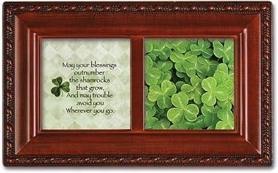 Cottage Garden - Irish Blessing Petite Woodgrain Music Box Plays Irish Lullaby