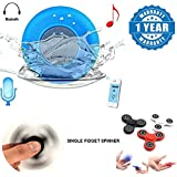 ZTE Axon 7 Compatible Certified Water Proof Bluetooth Shower Speakers With Fidget Spinner High Speed Stainless Steel Bearing ADHD Focus Anxiety Relief Toys(1 Year Warranty)