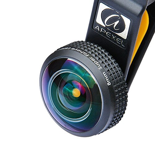 Apexel-Universal-Professional-HD-8mm-Fisheye-Camera-Lens-Kit-with-Neck-Lanyard-and-Storage-Case-for-iPhone-6-6-Plus-Samsung-Galaxy-S7-S7-Edge-Smartphones-Tablets-Full-Frame-No-Dark-Circle