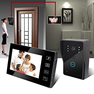 keedox fonction nouvelle portier interphone vid o avec fil sonnette intercom visiophone. Black Bedroom Furniture Sets. Home Design Ideas