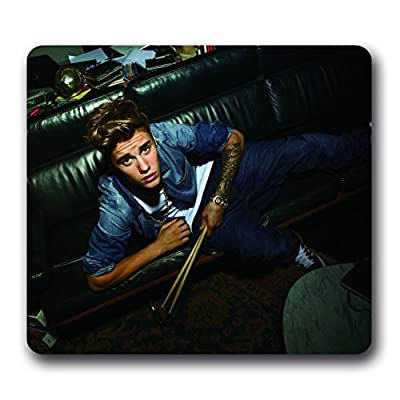 Justin Bieber Neoprene Water Resistant Mouse Pad,10*9inch Non-slip Mouse Pad Beliber Gifts