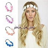 ShungHO 5x Women Girl Floral Flower Head Chain Headband Dance Party Wreaths \