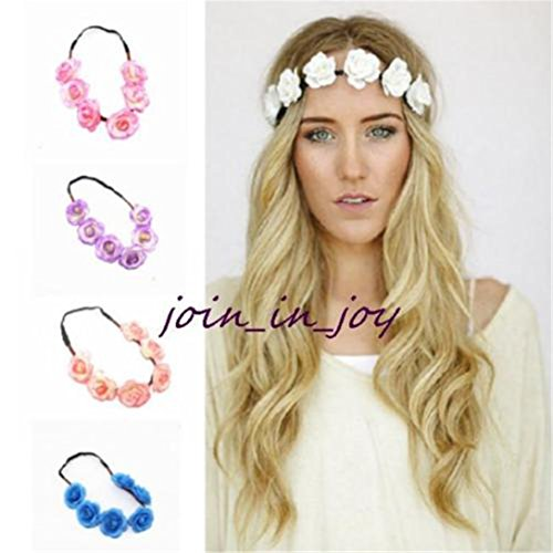 ShungHO 5x Women Girl Floral Flower Head Chain Headband Dance Party Wreaths \