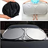 (12216-u) CAR SUNSHADE FRONT REAR WINDOW WINDSHIELD VISOR COVER UV REFLECTOR (USA)