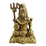 "Valentine Figurine RoyaltyLane Lord God Shiva Sculpture - Handcrafted Brass Figurine Religious Gift - 2.9"" x 2"" x 1.4"""