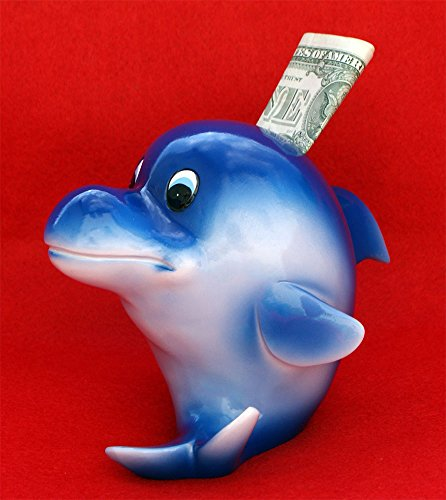 Blue Dolphin Piggy Bank