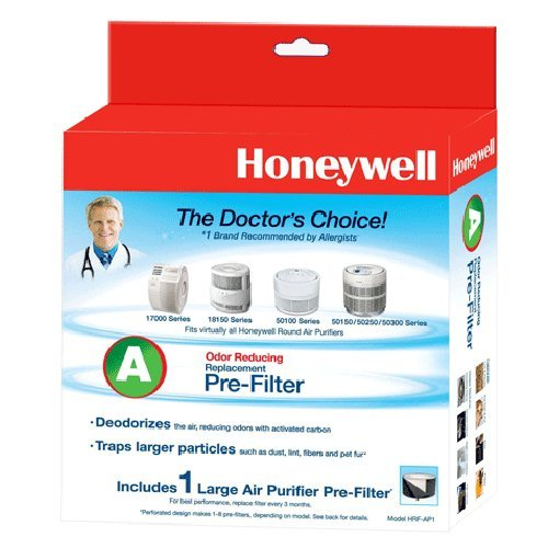 4 Pack Bundle of Honeywell Filter A Universal Carbon Pre-filter, HRF-AP1 (Replaces 38002)