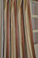 Sienna Striped satin silk curtain