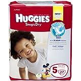 Huggies Snug and Dry Diapers, Size 5, Jumbo, 27 ct