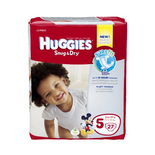 Huggies Snug and Dry Diapers, Size 5, Jumbo, 27 ct - 1