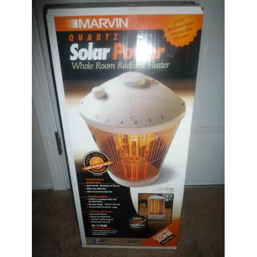 Marvin quartz solar power whole room radiant heater space heaters - Small room space heater decor ...