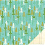 Pebbles Lakeside Summer Camp 12x12 Scrapbook Paper