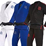 Sanabul Essentials Version 2 Ultra Light BJJ Jiu Jitsu Gi with Preshrunk Fabric (Black, A2)