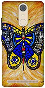 The Racoon Lean Joyous butterfly hard plastic printed back case/cover for Lenovo K5 Note