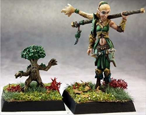 Reaper Miniatures 60147 Pathfinder Series Pathfinder Druid, Familiar Miniature - 1