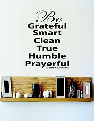 Design with Vinyl 4 C 2031 Decor Item be Grateful Smart Clean True Humble Prayerful Quote Wall Decal Sticker, 20 x 20-Inch, Black