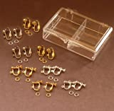 "EARRING Converter Kit for "" Non Pierced "" Ears Clip and Screw Earrings"
