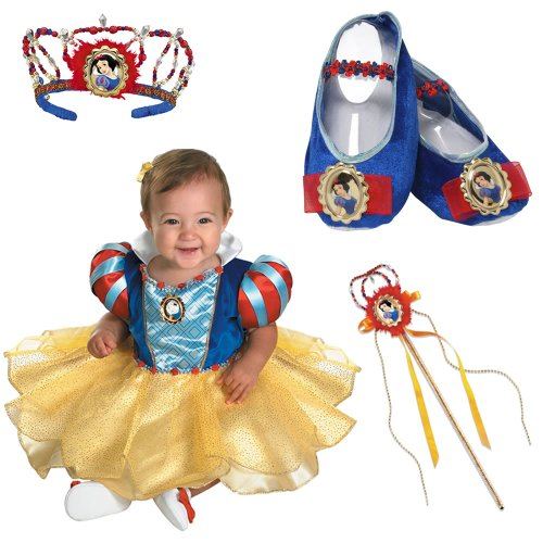 Disney Snow White Infant Costume with Slippers, Wand and Tiara (12-18 Months)
