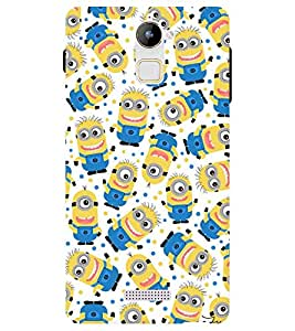 Chiraiyaa Designer Printed Premium Back Cover Case for Coolpad Note 3 Lite (minion pattern) (Multicolor)