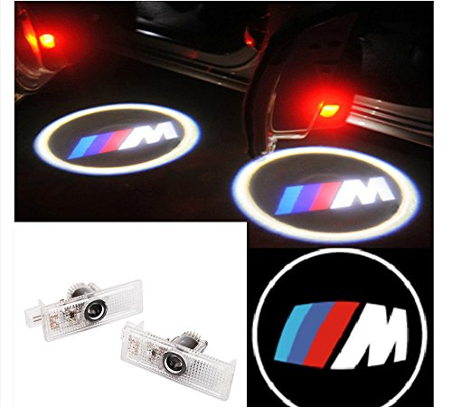 2X Led Door Courtesy Shadow Ghost Lamp Projector Light For Bmw M3 M5 Z3 Z4 With ///M Logo