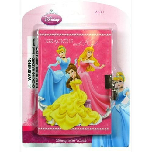 Disney Princess 50 Sheets Diary w/ Lock on Blister Card - 1