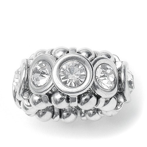 Urban Chic Crystal Bezels Stretch Ring