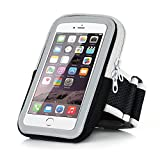 iPhone 6 Sports Armband - Badalink Running Cell Phone Holder Case Arm Band Strap With Zipper Pouch/ Mobile Exercise Workout for iPhone 6 6S iPod Touch