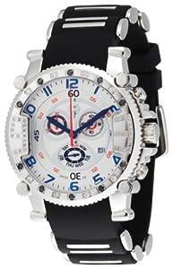 Brillier Men's 02.4.4.4.11.01 Grand Master Tourer Signature White Dial Black Rubber Watch from Brillier