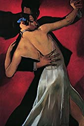 27W x 40H Carmine Cafe by Bill Brauer - Stretched Canvas w/ BRUSHSTROKES