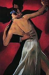 27W x 40H Carmine Cafe by Bill Brauer - Stretched Canvas w/ BRUSHSTROKES