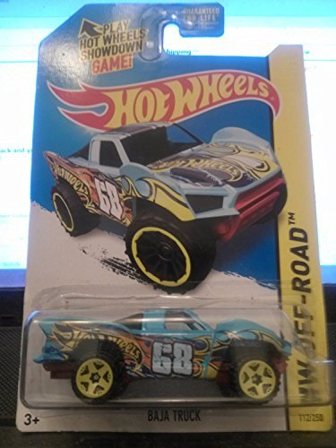 2014 Hot Wheels Hw Off-Road 112/250 - Baja Truck - Light Blue - 1