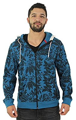 Jordan Craig Men's Floral Zip Up Hoodie Sweatshirt Lightweight
