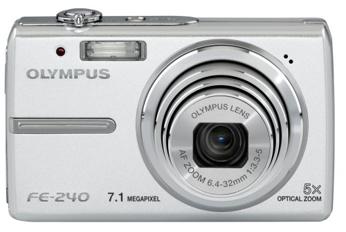 Olympus FE-240 is one of the Best Ultra Compact Point and Shoot Digital Cameras for Travel and Action Photos Under $200