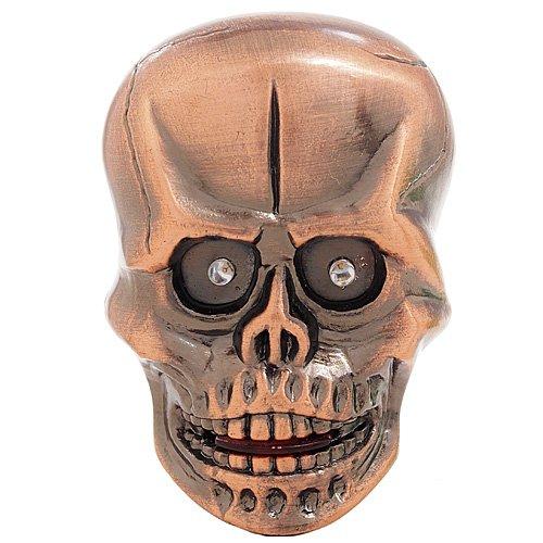 Light-Up Led Skull Lighter With Creepy Sound Effect - Copper