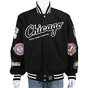 Chicago White Sox World Series Reversible Wool nylon Jacket by JH Designs