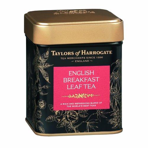 Taylors of Harrogate English Breakfast Leaf Tea, Loose Leaf, 4.41 Ounce Tin (Pack of 6)