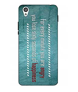 Make My Print Slogan Printed Multicolor Hard Back Cover For One Plus X
