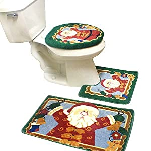 christmas bath mat contour set bath rug christmas bathroom sets