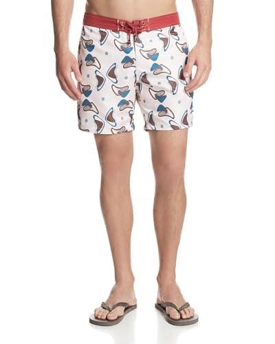 Mr. Swim Men's Retro Boomerang Board Shorts
