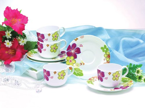 Superware Melamine Sundressing Coffee Set - 4 Set 8 Pieces