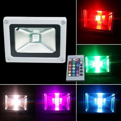 GARYGHOST-2-Stck-10W-RGB-farbig-LED-Fluter-Flutlicht-Strahler-Auenstrahler-IP65-wasserdicht-mit-Fernbedienung-Garten-dekorativ-Lampe-Licht-2-Stck-10W