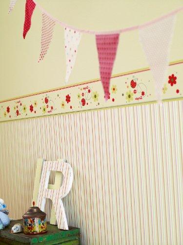 esprit for kids 2 219121 carta da parati decorativa living walls colore verde rosso bianco. Black Bedroom Furniture Sets. Home Design Ideas