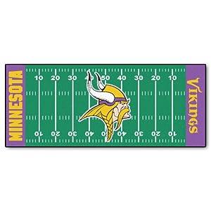 FANMATS NFL Minnesota Vikings Nylon Face Football Field Runner by Fanmats