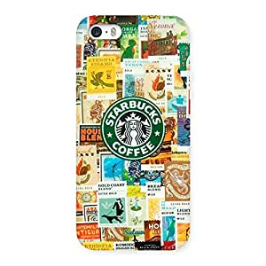 Special Coffee SB Multicolor Back Case Cover for iPhone SE