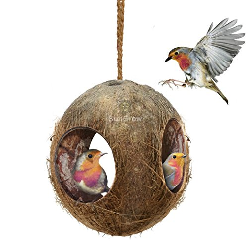 sungrow-coco-bird-hut-natural-coconut-shell-bird-house-and-bird-food-dispenser